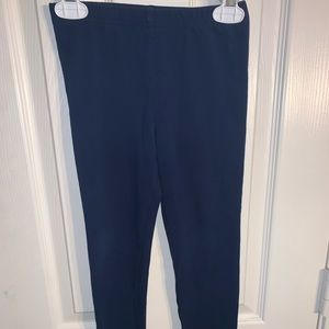 Girls Plain Dark Blue Casual Tights Size 7